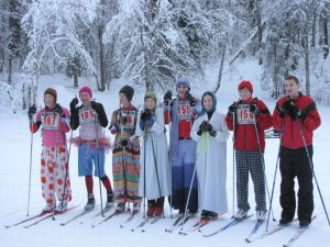 The Wasilla ski team went all out for the race; photo by LWright