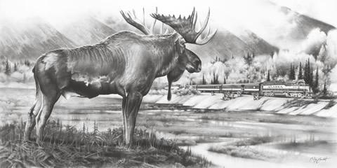 Alaska Railroad 2013 Print Featuring Hurrican Train