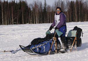 Karin Hendrickson at the 2013 Iditarod restart.  Photo by Josh Edge, APRN - Anchorage