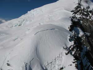 Mt. Dickey after Monday's avalanche.  Photo by T. Chenoweth - Denali National Park and Preserve