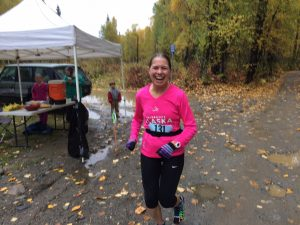 Marathon winner Jane Lanford.  Photo: Katie Writer - KTNA