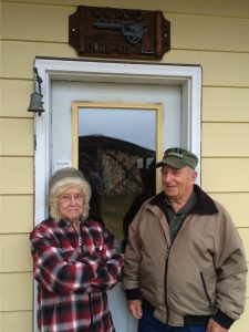 Carl and Brenda Thomas at their home south of Talkeetna.