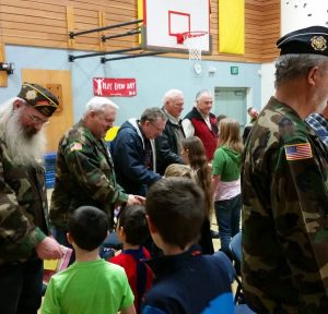 Talkeetna Elementary students thank veterans for their service at a special assembly.  Photo: AJ Sullivan