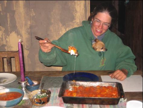 Maureen and manicotti