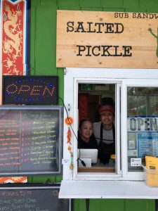 Joy and Mai Phanhly inside the Salted Pickle.  Photo - Katie Writer