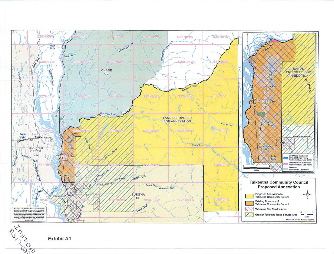 Alaska matanuska susitna county talkeetna - The Yellow Area In This Map Was Added To The Talkeetna Community Council Area On Tuesday