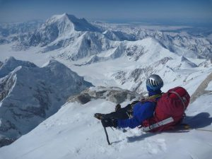 Connor Chilcott on Denali.  Photo courtesy of Forrest Barker.