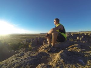 Carter Forney in City of Rocks, New Mexico. Photo Courtesy of Carter Forney.
