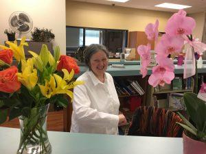 Talkeetna librarian Ann Yadon.  Photo by Katie Writer, KTNA.