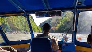 Captain Eli Hoffman navigates the Susitna River by sight. Photo:  Phillip Manning - KTNA