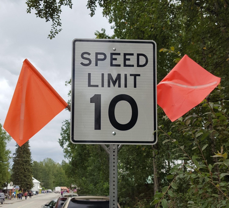 Alaska matanuska susitna county talkeetna - Newly Installed Speed Limit Sign On Main Street The Borough Recently Reduced The Speed