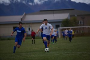 Blake Drover during the state coed soccer tournament.  Photo courtesy of Paul Roderick.